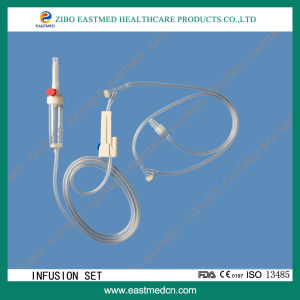 Disposable Infusion Set with Free Needle Injection Port pictures & photos