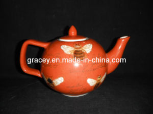 Equisite Ceramic Hand Painted Circle Teapot (CR3798)