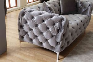Fabric Tufting Sofa pictures & photos