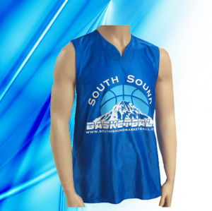 100% Polyester Man′s Sleeveless Basketball Wear pictures & photos