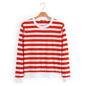 Casual Yarn Dyed T Shirt for Women