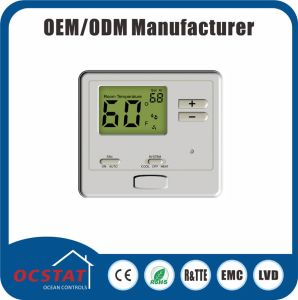 Heat Pump 2 Heat 2 Cool Non-Programmable Batteries or 24V Power Temperature Controller