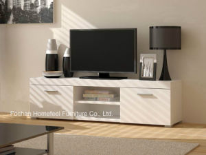 Modern White Matt TV Stand with 2 Drawers (HHTV03) pictures & photos