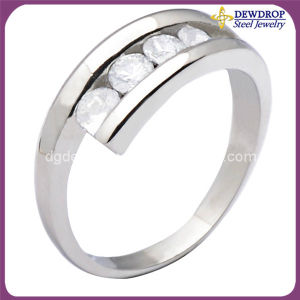 New Ring Design Stainless Steel Jewelry Diamond Ring for Girl