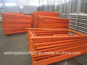 Construction Scaffolding Frames 1219X1700mm Vertical Main Frame pictures & photos