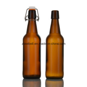 500ml Flip Cap Amber Glass Bottle for Beer pictures & photos