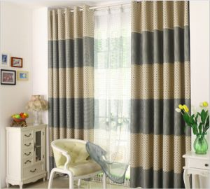 Chinese Style One Side Print Curtain Black-out Curtain (MM-117) pictures & photos