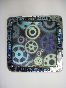 Made 3D Lenticular Puzzle Back with Magnets