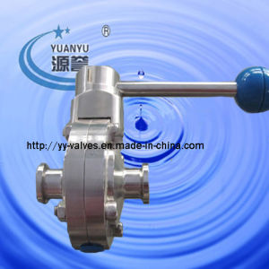 Triclamp Butterfly Valve Food Grade (K=25.4mm) pictures & photos