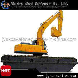 Dredging Hydraulic Mini Excavator with Undercarriage Pontoon
