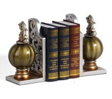 Polyresin Bookends Gift and Home Decoration