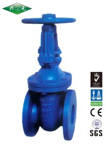 BS3464 Standard Flanged Cast Iron Metal Sealed Outside Screw Stem Rising Through Handwheel Gate Valve