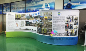 custom size trade fair booth backdrop aluminum display polyester banner