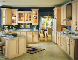 Home Furniture Customized Unfinished Solid Wood Kitchen Cabinets
