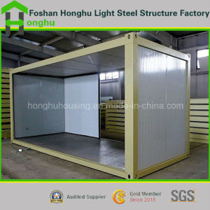 Rock Wool/Glass Wool/EPS Sandwich Panel Steel Structure Living Container House pictures & photos