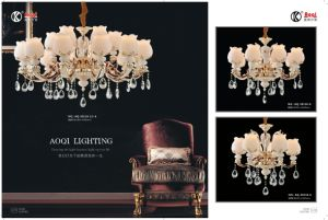 Hot Sale Double Colors Zinc Alloy Chandelier Light pictures & photos