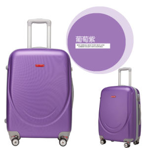 ABS Zipper Styly Travel Case 18/20/24/28 Inch with Movable Wheels pictures & photos