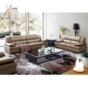 Modern Leather Sofa with Armrest (1037A)