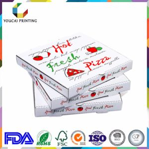 Square White Carton Pizza Box with Custom Logo Printing