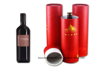 Cylinder Wine Packaging Gift Box Paper Tube Box