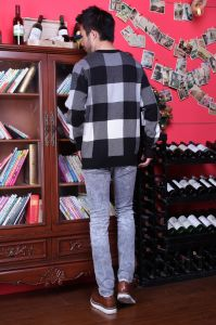 Stock! Men′s Plaid Hoodie pictures & photos
