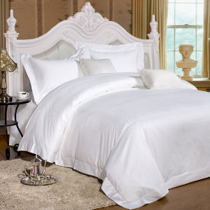 Ultra-Soft Luxury Lyocell Plain White Duvet Cover Set/Bedding Set pictures & photos