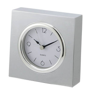 Silver Chrome Silent Table Alarm Clock pictures & photos