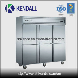 6 Doors Stainless Steel Commercial Kitchen Refrigerator