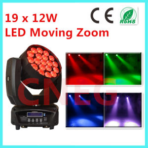 19*12W RGBW 4 in 1 Zoom LED Moving Head Wash