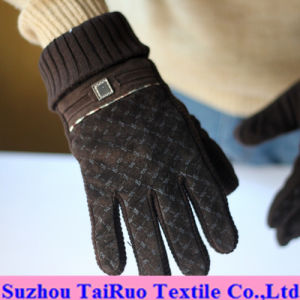 Printed Micro Suede with Composited Flannel for Gloves Fabric pictures & photos