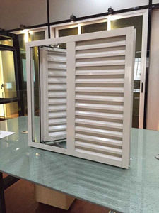 Aluminium Casement Window with Shutter pictures & photos