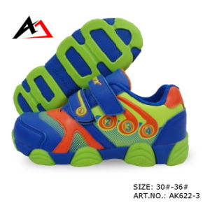 Sports Shoes Lovely Carton Printing Walking Footwear for Children (AK622-1) pictures & photos
