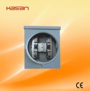 100A Single Phase Square Electric Meter Socket/Meter Base pictures & photos