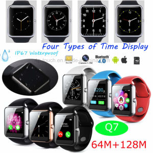Bluetooth 4.0 Waterproof Smart Watch Phone with Camera 1.3m Q7 pictures & photos