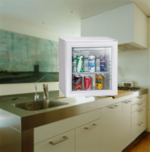 White Glass Door Mini Refrigerator Low Energy Consumption on Sale pictures & photos