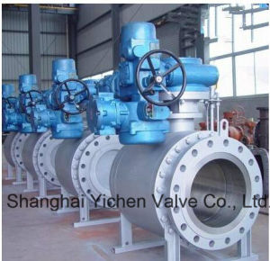 Electric Actuated Trunnion Mounted Forged Carbon Steel Ball Valve (Q947F) pictures & photos