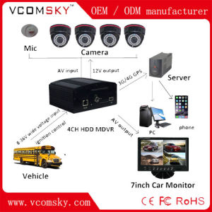 Mobile DVR, 4CH H. 264 Car DVR Kit, Backup, G-Sensor, 4 Channel Truck /Bus Security DVR