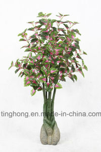 New Design Artificial Plants with 118 Purple Perilla Leaves