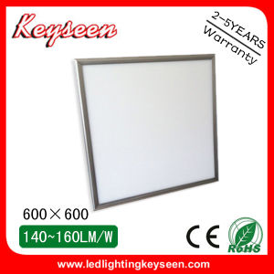 48W, 5000lm, 600X600mm LED Panel Light with 5years Warranty