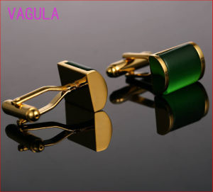 VAGULA High Grade Catseye Cuff Links Gold Cuff-Links Onyx Cuffs French Shirt Gemelos Cufflinks pictures & photos