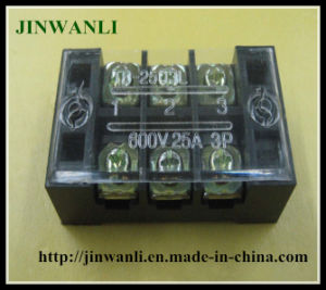 Tb-2503 600V 25A 3 Pin Fixed Screw Terminal Strip pictures & photos