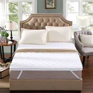 Microfiber Filling Cotton Hotel White Mattress Topper/Mattress Pad pictures & photos