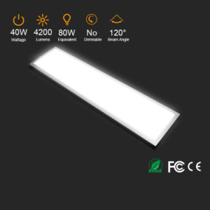 Shenzhen CE RoHS Approved 1200X300mm Aluminum Ultra Thin Pure White 40W Surface Mount LED Light Panel pictures & photos