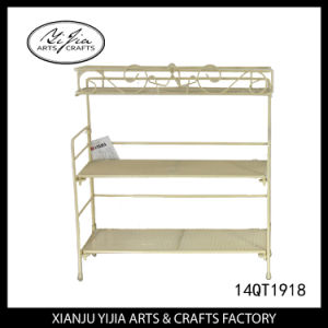 Metal Table Sundries Rack Three Layers for Home Decoration