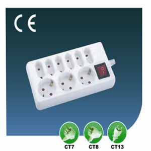 European Nine Ways Extension Socket with Switch
