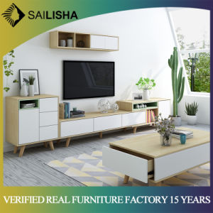 Nordic Modern Style Living Room Television Stand Wooden TV Cabinet