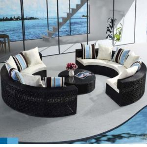 Circular Outdoor Sofa Garden Sofa Wicker Furniture Rattan Sofa Outdoor  Furniture S212
