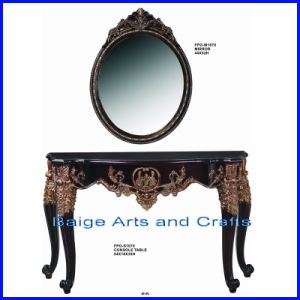 2013 Antique Wooden Console Table with Mirror S-1670#