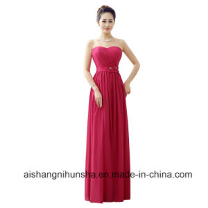 b2462e9c2696 China Simple A Line Sweetheart Chiffon Flower Pleat Prom Bridesmaid ...