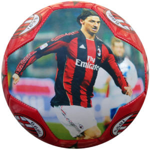 Football Star Image Printed Soccer Ball / Football